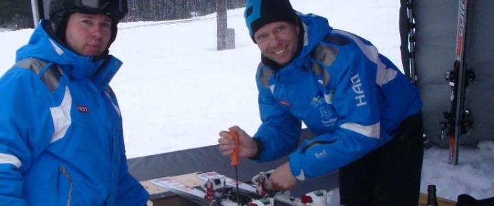 Flutlichtfahren mit Skitest in Bernau