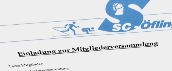 Einladung zur Mitgliederversammlung (mit Wahlen)